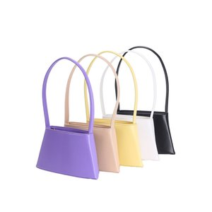 2020 New Retro women's handbag armpit law stick bag irregular trapezoid hand carrying genuine leather bags