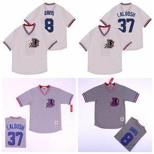 Bull Durham moive 1988 Baseball 8 Crash Davis Jersey 37 Nuke LaLoosh Pull équipe Couleur Gris Blanc frais de base Tous Cousu de haute qualité