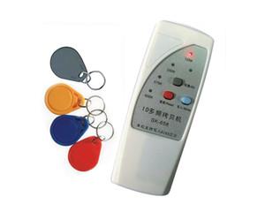Handheld 4Frecuencia (125/250 / 375 / 55kHz) 125kHz EM4100 RFID Copiadora / escritor / Duplicador (/ EM4200) + 50pcs Llaveros de escritura