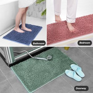Encrypted Plush Carpet Solid Color Simple 21 Colors Bathroom Bedroom Doorway Mat Water-absorbent Non-slip Thickened Blanket Rug PPD4498