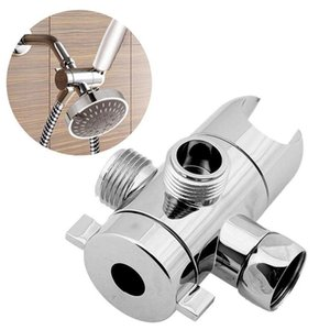 Shower Head Diverter Valve Adjustable Shower Arm G1 2 Mounted Valve Switch Adapter Connector Way Chrome Function 3 Tee Thre H7L9