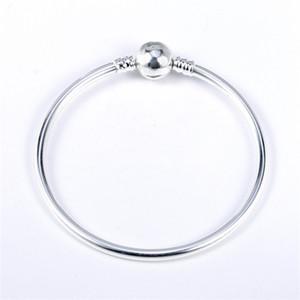 Silver Sterling Silver Bracelet Authentique Fit Pandora Bracelet Bracelet ou Champilia Bead Charms Solid Silver 53 J2