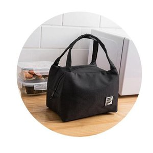 2020 Lunch Bags Portable Lunch Box Large Large Capacity Picnic Bags Insulation Box Solid Color Case Handbags