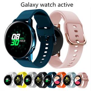 Ammortizzatrice in silicone da 10 mm hotsale 10 colori per Samsung Galaxy Watch Active 2 Band Strap Sport Watch Braccialetto di ricambio