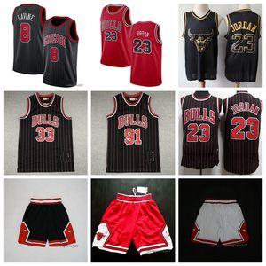 Erkekler ŞikagoBullsJersey 23Michael1015 33 Scottie Pippen 91 Dennis Rodman swingman Basketbol Jersey Throwback