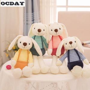 OCDAY لطيف الحيوانات القطيفة الحيوانات الأليفة لينة الاطفال الرضع لعب الأرنب للبنات الأطفال هدية عيد ميلاد النوم دمية