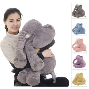 Dropshipping 40 60cm Appease Elephant Pillow Soft Sleeping Stuffed Animals Plush Toys Baby Playmate gifts for Children 201222