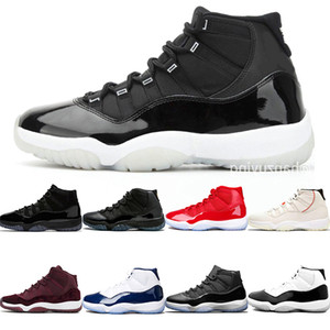25e anniversaire Air Jordán NakeskinJordanRétro 11 11s Basketball Chaussures Hommes Bred Cap and Gown Concord 45 23 Hommes Traners Chaussures de sport
