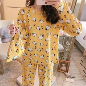 Frauen Pyjama Set Mädchen Nachtwäsche-nette Karikatur Snoopy Dog Frauen-Pyjamas Suit Female Startseite Bekleidung 2019 Nachtwäsche Y200425 O8h1 #