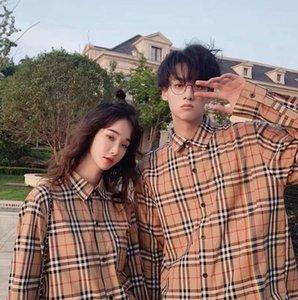 Spring 2020 loose plaid shirt men's and women's long-sleeved web celebrity jacket