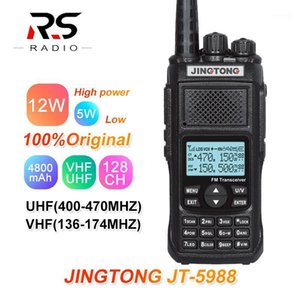 Walkie Talkie 12W высокая мощность Baofeng для охоты Jingtong JT-5988 HAM CB радиопередатчик UHF VHF сканер Woki Toki 50km1