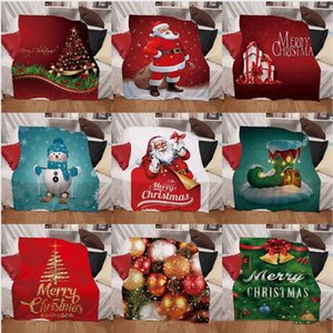 Christmas Blanket Digital Printing Winter Thickening Double Layers Throw blankets Multicolor Multi Pattern Home Textiles Accessories LJJP782