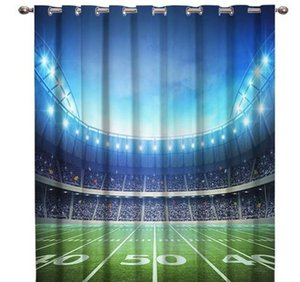 Soccer Football Game Competition In Gymnasium 3d Window Curtains For Living Room Bedroom Kitchen Cortinas Pa bbyMZY yh_pack