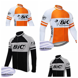 BIC Team custom made Breathable Cycling Thermal Fleece Jersey Hot Sell warmer Mountain Bike Tops Cycling jacket 102303