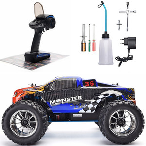 1:10 Scale Two Speed Off Road Monster Truck Nitro Gas Power 4wd Remote Control Car High Speed Hobby Racing RC Vehicle