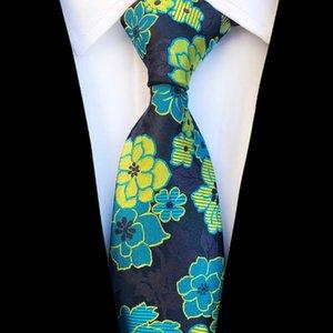 Fiesta de la boda JEMYGINS Llegada de nuevo Lazo floral para los hombres Calidad seda jacquard tejida Gravata 8cm corbata para hacer negocios