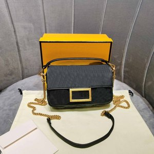 Signore sac fourre tout mini pochette nera baguette f lettera vera pelle chian spalla borsa goffratura borse crossbody della borsa 7a di fascia alta