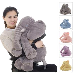 Dropshipping 40 / 60cm apaziguamento elefante travesseiro macio dormindo animais de pelúcia brinquedos de pelúcia bebê playmate presentes para crianças 201215