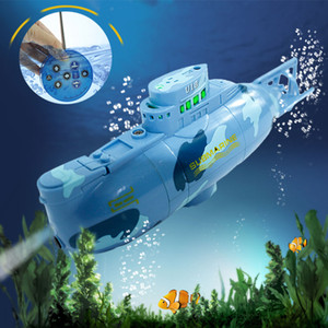Radio RC Submarine 6 Function Electric Mini Remote Control Speed Boat Explosion Military Battle Kid Summer Fun Toy Water Proof