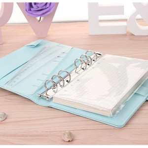 Cute A5 a6 Leather Loose Leaf Refill Notebook Cover Spiral Binder Macaron Color Kawaii Stationary Planner Book Replacement Cover