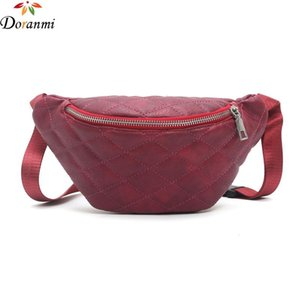 DORANMI Diamond Lattice Waist Bag 2020 Hot Solid Lighweight Fanny Pack Belt Bags Women's Waist Pack Leather Fanny Bags DJB695