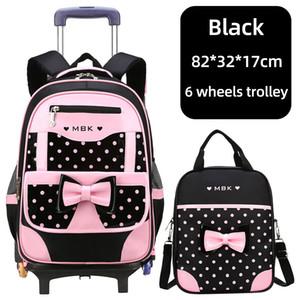 High School de Qualidade Mochila Trolley Mochila com rodas sacos de escola impermeável para Adolescentes bagagem Bag Crianças Kid Bolsas