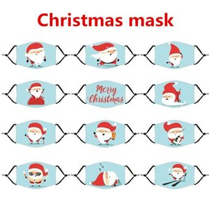 Печатные Снежинки Маски Маски Маска Маска 300 шт. Рождественские напечатанные мультфильм пыль моющийся Snowf FA маска рождественские оленя анти T1i2385 Xmas TBTTF
