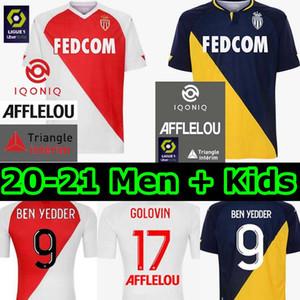 2020 2021 как Монако футбол для футбола Mailoots de ohot 20 21 B.BAdiashile Ben Yedder Gelson Fabreeags Golovin мужчины дети Генри футбольная футболка