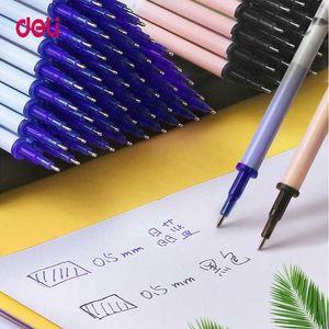 Deli мило офис Gel Pen стираемые Refill Rod стираемая Ручка моющийся Ручка 0.5mm Черный Синий чернил школы Письменные принадлежности A7RD #