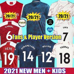 2021 Gabriel WILLIAN THOMAS de fútbol del arsenal de tailandia pepe Saka nicolas ceballos henry 20 21 guendouzi tierney AUBAMEYANG OZIL LACAZETTE camisetas de fútbol hombres niños