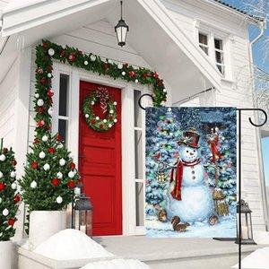 YENİ Noel bayrağı ve nimet Kartpostal serisi Bahçe Bayrak çift bayrak 30 olmadan * 45cm T500303 Noel Baba asılı resim baskı