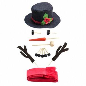 Travail à la main Dress Up famille hiver Toy badine bonhomme de neige Kit de Noël en plein air Décoration cadeau Props Accueil NIOT #