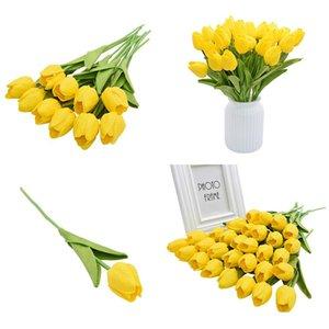 5/10 stücke Künstliche Tulpen Bonsai Tulpe Blumen Foam Tulipanes Blume Blumenstrauß für echte Touch Hochzeit Blume Bouquet de BBycid