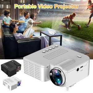 UC28C Portable LED Projector USB Mini Video Projector Home Media Player Supports 1080P Family Video Projector Kids Gift