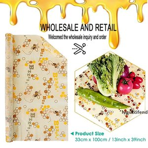 13*39 Inches Reusable Silicone Wrap Seal Fresh Keeping Wrap Lid Cover Stretch Vacuum Beeswax Cloth Kitchen Tools