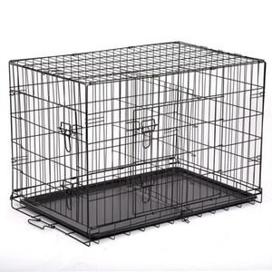 "36 ""PET KENNEL CAT DOG DOG PLOTING CRAVE CAMBIO CAJA DE METAL W / DIVIDER"