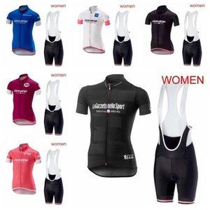 2020 Tour De Italy Outdoor Short Sleeve Cycling Jersey Summer Sports Uniforms Road Bicycle Clothing Women Sportswear Bib Shorts Set