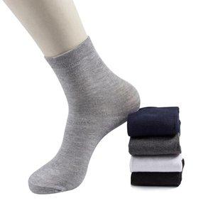 Leosoxs 2020 Hombres Calcetines de algodón nuevos Estilos 10 pares / lote Negro Hombres de negocios Calcetines Transpirable Otoño Invierno para hombre