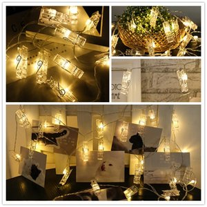 10 20 40 Led Garland Card Photo Clip Led String Fairy Lights Battery Operated Christmas Garlands Wedding Valentines Decoration Swy wmtuxp