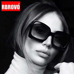 RBROVO 2020 Крупногабаритные Vintage Солнцезащитные очки для женщин / мужчин Роскошные солнцезащитные очки Женщины зеркало óculos De Sol Feminino
