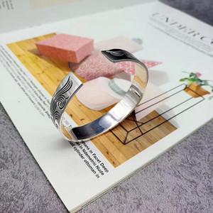 Vintage Tang Cao Rose Flower Bracelet High Quality Sterling Silver Bracelet 925charm Bracelet Fashion Luxury Ginger Snap Jewelry