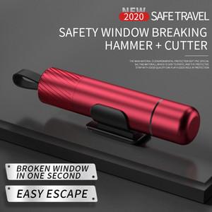 Herramienta de escape de emergencia de martillo de seguridad, interruptor de vidrio para ventanas de automóvil y cortador de cinturones de seguridad, mini 2 en 1, para rescate de trabajo bajo el agua, ventana rota