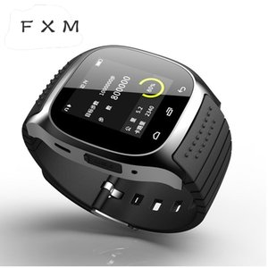 FXM Digital Stepfly Sport Bluetooth Smart Watch Luxury Wristwatch M26 with Dial SMS Remind Pedometer for IOS Android PK U8