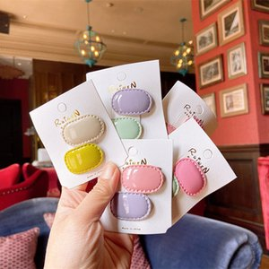 New ice cream color small hairpin children hair ornaments girl BB clip does not hurt hair baby side clip bangs clip