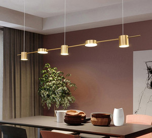 Led Creative Hanging Lamps Modern Minimalist Restaurant Decoration Ceiling Lamp Bar Table Long Shape Pendant Light Black  Gold