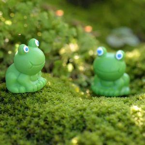 Cartoon Blue Eye Small Frog Ornament Figurine Doll Kids Gift Moss Terrarium Micro Landscape Accessories Fairy Garden DIY Decoration DHF2482