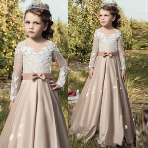 Princess Flower Girl Dresses for Wedding Ball Gown Party Communion Pageant Christening Dress Little Girls Kids Children Dress