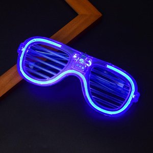 Fashion Novelty LED Glasses Light Up Shades Flashing Luminous Rave Night Christmas Activities Wedding Birthday Party Decoration