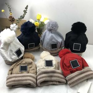 Street Beanie Skull Caps Warme Herbst Winter Ball Top Winter Atmungsaktive Eimer Hut für Mann Frau 7 Farbkappe Top Qualität