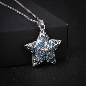 Abbastanza Collana Pentagram bagliore nel buio della stella Normativa collana lunga catena luminosa Collane